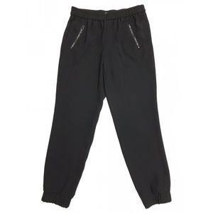 J. Crew Black Turner Crepe Tapered Jogger Pants